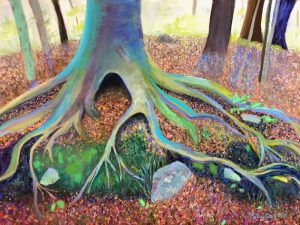 Growing in Rocky Ground (Landscape Conceptual Painting in Pastel)