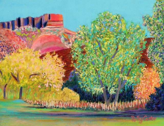 Changing Seasons in Palo Duro Canyon (pastel) by Polly Castor