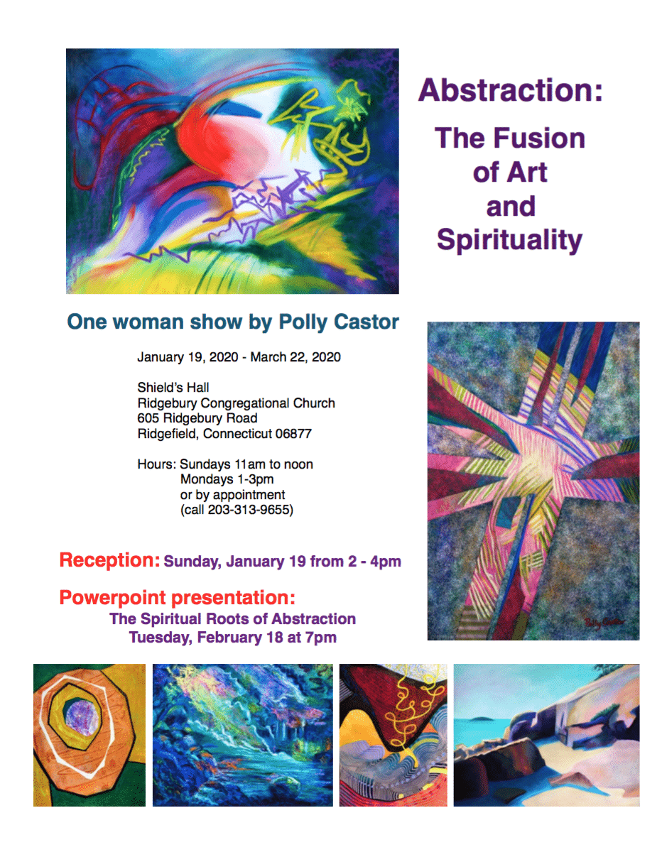 Polly Castor One Woman Show 2020, Abstraction: The Fusion of Art and Spirituality