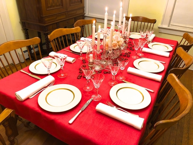 Valentine's Day Dinner Party poem by Polly Castor