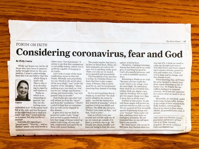 Coronavirus fear and God