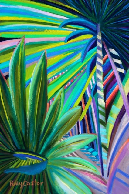 Palm Sunday (painting in pastel) by Polly Castor