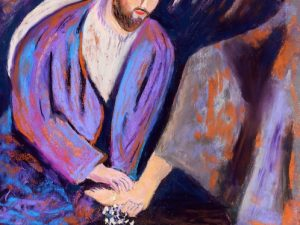 The Calm Before the Storm (New Painting of Jesus Washing Feet)