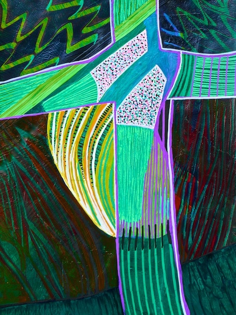 Cruciform #7 (acrylic) by Polly Castor