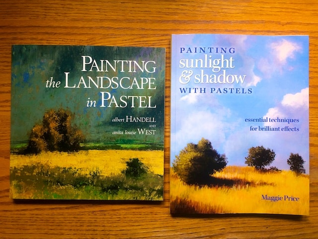 Two Pastel Landscape painting books reviews and notes