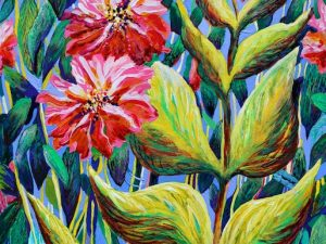 In Among the Leaves (New Impressionistic Botanical Painting)