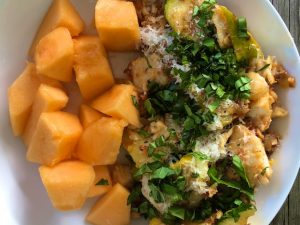 Patty Pan Squash and Tilapia Stir Fry (recipe)