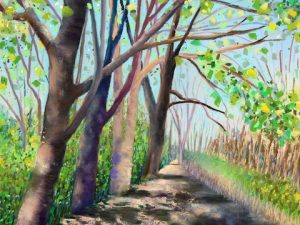Spring Forward (New Landscape Painting in Pastel)