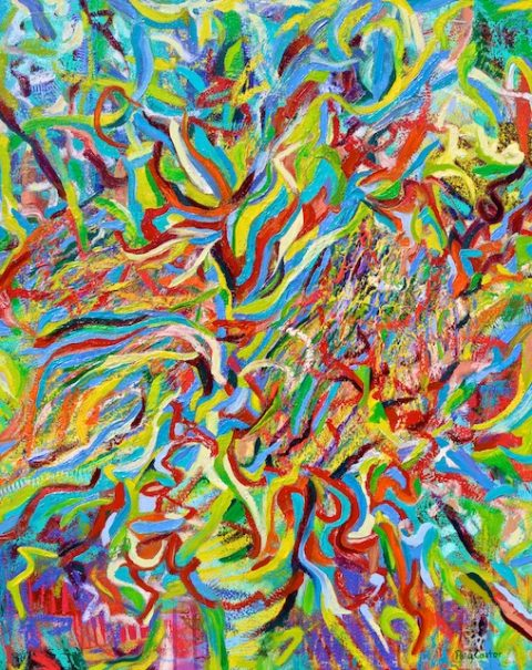 Profusion (oil) by Polly Castor