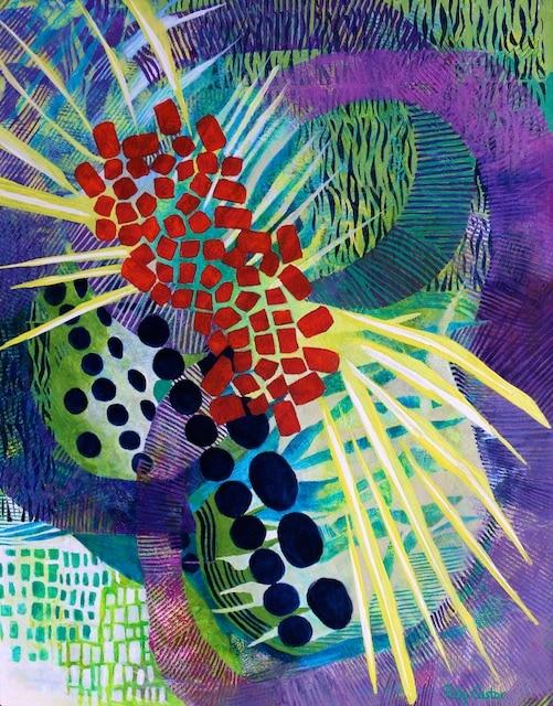 Resonate (monoprint) by Polly Castor