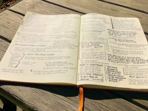 Recent Pages in my Bible Lesson Journal