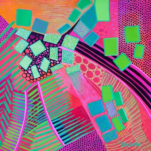 Tempered Euphoria (acrylic) by Polly Castor