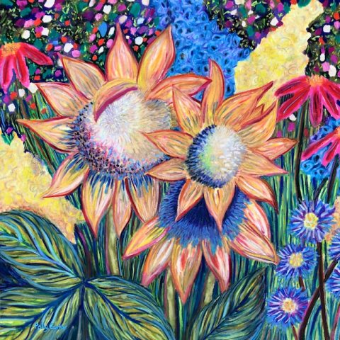 Late Summer's Generosity (pastel) by Polly Castor