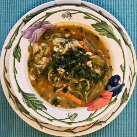 Grain-Free Vegetable Noodle Soup Recipe