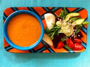 Vegan Roasted Vegetable Soup (Recipe)