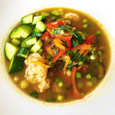 Asian Shrimp Veggie Bowl Recipe