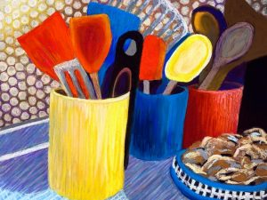 Three New Abstracted StillLife Paintings in Pastel