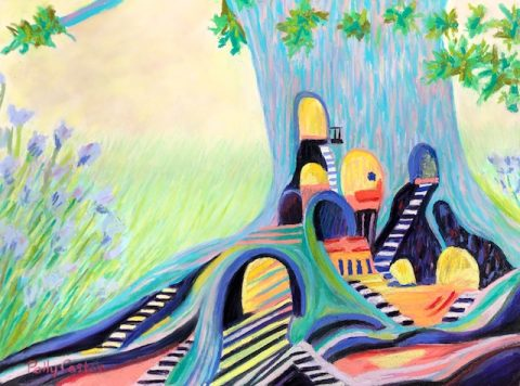 Childhood Imagination (pastel) by Polly Castor