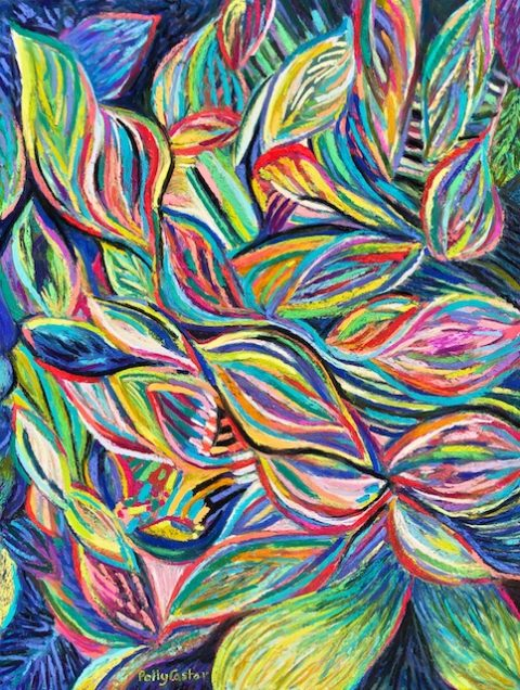 Lush (pastel) by Polly Castor