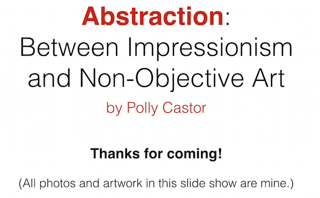 Powerpoint explaining abstraction available for groups via zoom
