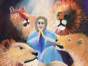 Four New Pastel Paintings of Old Testament Stories with Animals