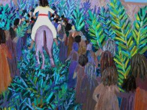 Hosanna Lyrics with Palm Sunday Paintings
