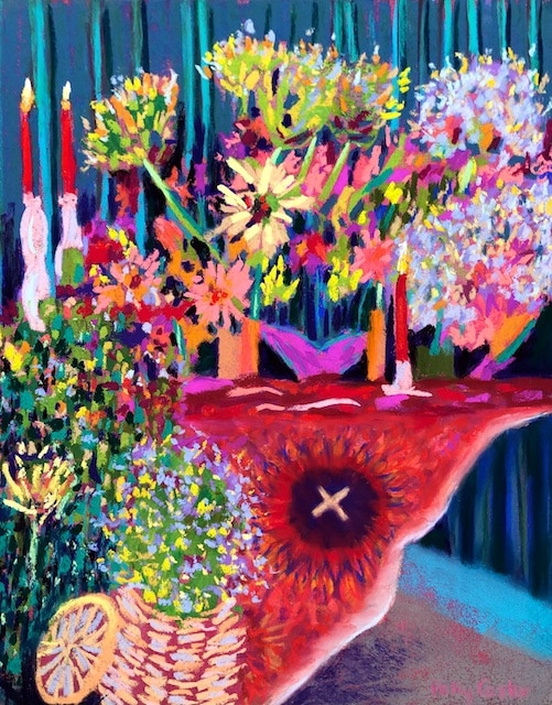 Bohemian Opulence (pastel) by Polly Castor