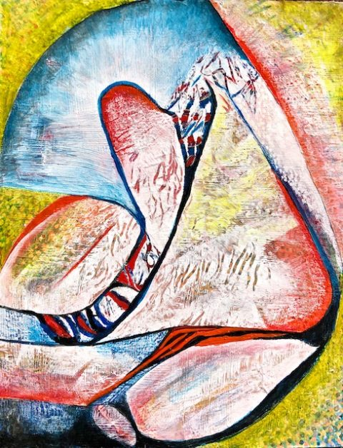 Women Finding Their Voice (acrylic) by Polly Castor