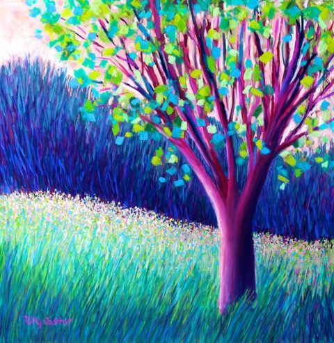 Field of Dreams Painting by Polly Castor, Good and Bad of Imagination poem, by Polly Castor