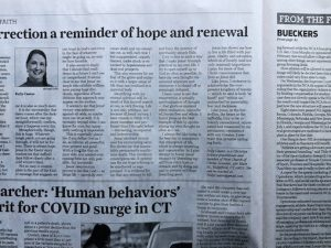 My Article for Easter in Three Connecticut Newspapers Today