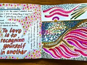 Recent Artist Journal Pages (some with Words, some Spiritual)