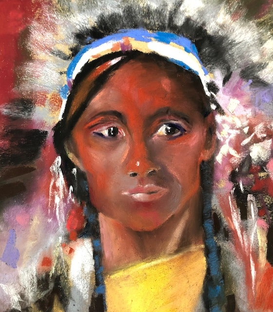 Native American (after Fechin) by Polly Castor