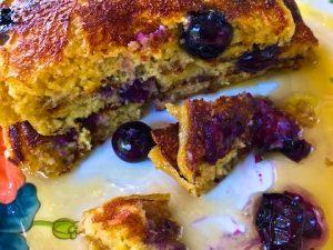 Multigrain Blueberry Pancakes (Recipe)
