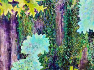 Katahdin Bark with Lichen and Moss (Large New Plein Air Pastel)