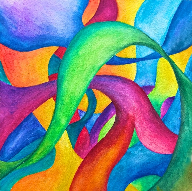 Sinuous Watercolor by our Youngest daughter