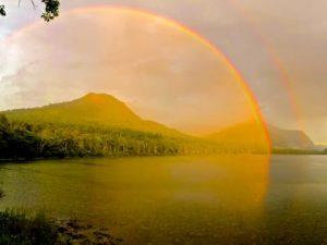 Rain Followed by an Amazing Rainbow