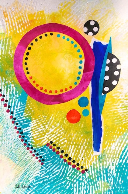 Balanced Economy painting by Polly Castor