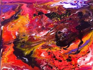 Desire is Prayer (New Large Abstract Conceptualist Painting in Acrylic)